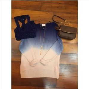 Over Sized Blue Ombré Sweater from Apricot Lane